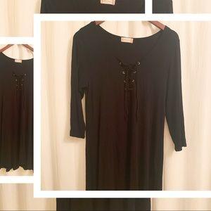 💙2/$30 Altar'd State - Black Knit Dress - Med